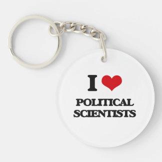 Liebe I politische Wissenschaftler Schlüssel Anhänger