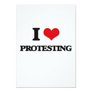 Liebe I Protest Einladungskarte