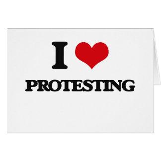 Liebe I Protest Karte