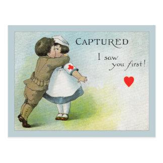 Liebe I sah Sie zuerst Postkarte