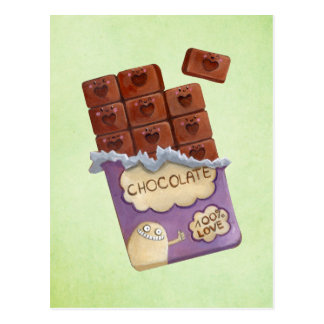 Liebe I Schokolade Postkarte