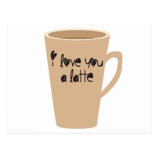 Liebe I Sie ein latte Postkarte