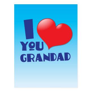 Liebe I Sie Grandadkarten Postkarte