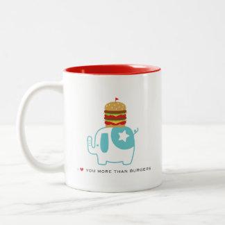 Liebe I Sie mehr als Burger 11 Unze. Weiße Tasse