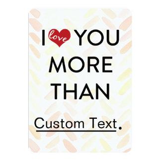 Liebe I Sie mehr als lustiger Valentine 12,7 X 17,8 Cm Einladungskarte