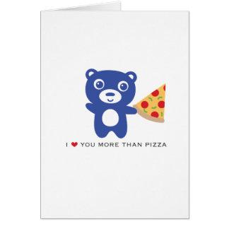"""Liebe I Sie mehr als Pizza-12x18"""" Liebekarte Karte"""