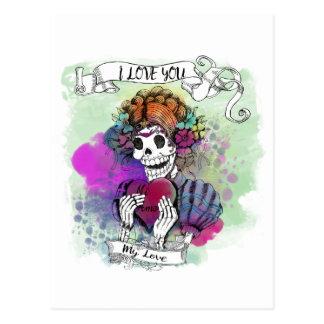 Liebe I Sie, selbst wenn ich die - Te Amo MI amor Postkarte
