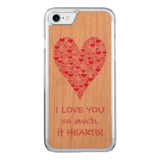 Liebe I Sie soviel es Herzen kleine Herz-großes Carved iPhone 8/7 Hülle