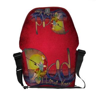 Liebe I Sie Vatifischenillustrations-Botetasche Kurier Tasche