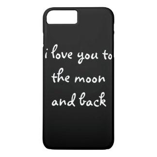 Liebe I Sie zum Mond und zur Rückseite iPhone 8 Plus/7 Plus Hülle