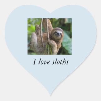 Liebe I Slothsaufkleber Herz-Aufkleber
