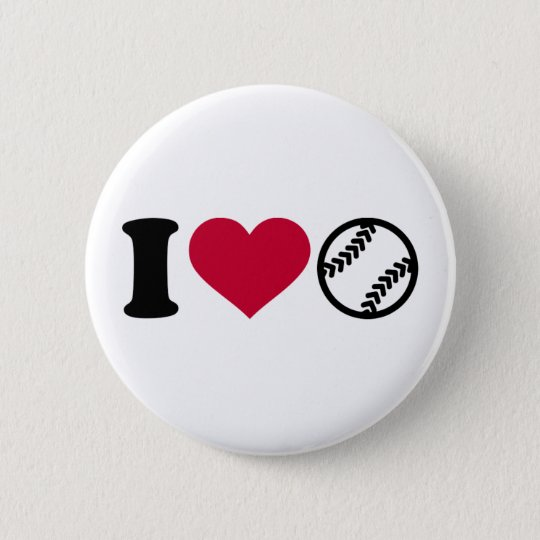 Liebe I Softball Runder Button 5,1 Cm