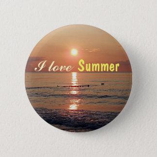 Liebe I Sommer! Sonnenuntergang auf den Runder Button 5,1 Cm
