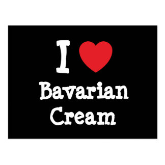 Liebe I T - Shirt Herz bayerischer Creme Postkarten
