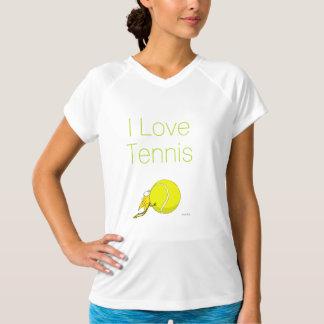 Liebe I Tennis! Kätzchen zähes Tennisball T-Shirt
