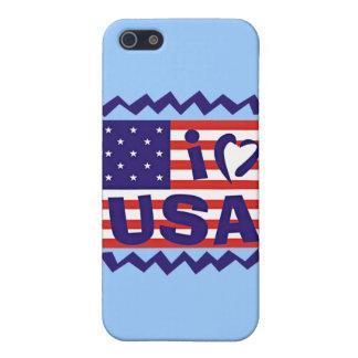 Liebe I USA-Briefmarken-Entwurf iPhone 5 Etui