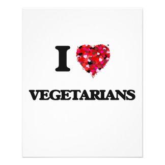 Liebe I Vegetarier 11,4 X 14,2 Cm Flyer