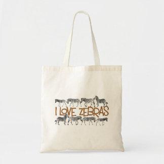 Liebe I Zebras-Taschentasche Tragetasche