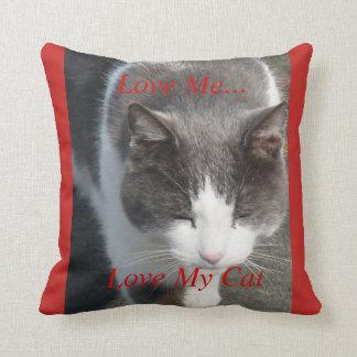 Liebe ich Liebe meine Katze Kissen