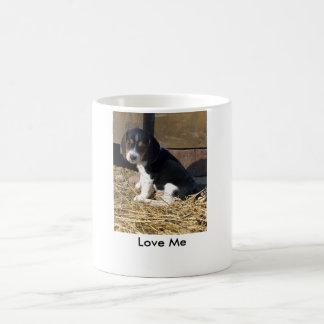 Liebe ich - niedlicher Beagle-Welpe Snoopy Kaffeetasse