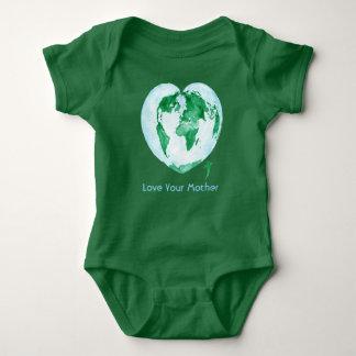 Liebe Ihr Mutter-Erdgrün-Baby-Bodysuit Baby Strampler
