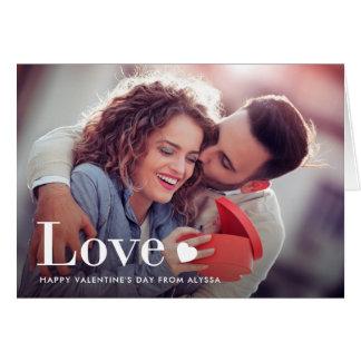 Liebe | Ihr persönliches Foto und ein Herz Karte