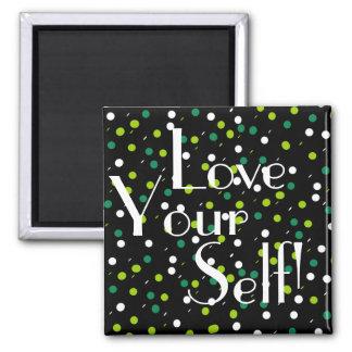 Liebe Ihr Schwarz-grüner Kreis-Magnet des Quadratischer Magnet