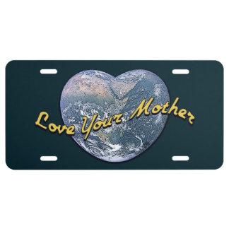 Liebe Ihre Mutter-Erde (Herz) US Nummernschild