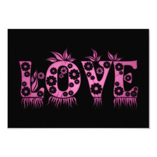 Liebe (im Blumen-Schriftart) 8,9 X 12,7 Cm Einladungskarte