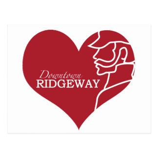Liebe im Stadtzentrum gelegene Ridgeway Postkarte