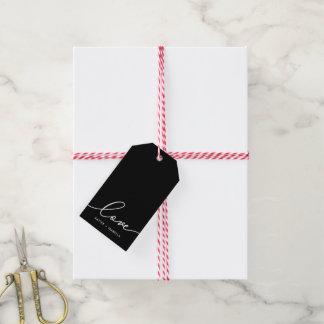 Liebe im weißen Skript Geschenkanhänger