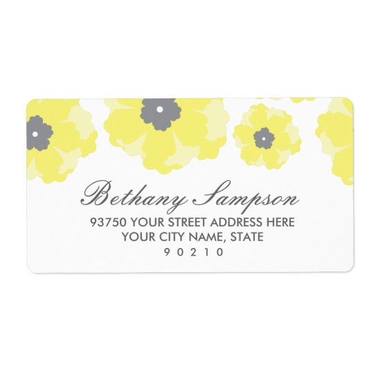 Liebe in den Blüten-Adressen-Etiketten Großer Adressaufkleber