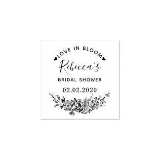 Liebe in der Blüten-Name-Brautparty-Hochzeit Gummistempel