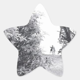 Liebe in einem Foto Stern Aufkleber