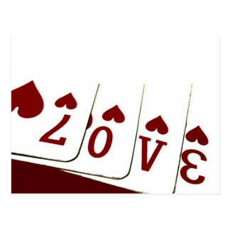 Liebe in Herz-Spielkarten Postkarten