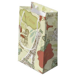 Liebe in Paris-Muster Kleine Geschenktüte