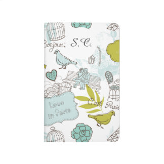 Liebe in Paris-Muster Taschennotizbuch