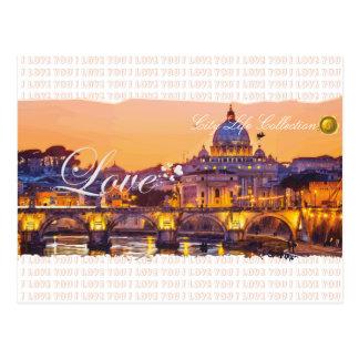 Liebe in Rom-Postkarte Postkarte
