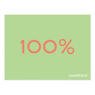 Liebe-Insel-Postkarte 100% Postkarte