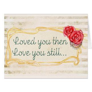 Liebe-Inspirational Zitat Karte
