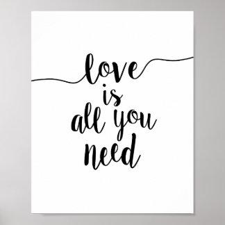 Liebe ist alle, die Sie Inspirational Poster