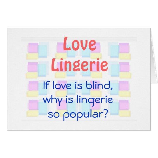 Liebe ist blind grußkarte