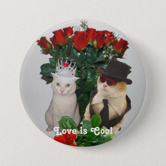Liebe ist cool runder button 7,6 cm