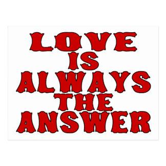 Liebe ist die Antwort Postkarte