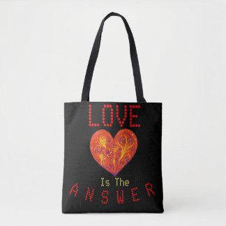 Liebe ist die Antwort Tasche