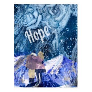 Liebe ist die einzige Hoffnung in unserem Leben Postkarte
