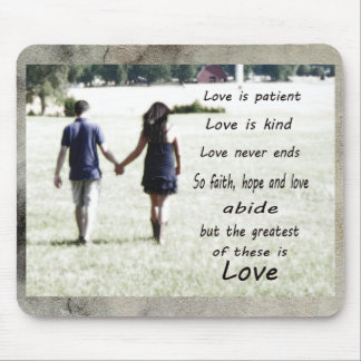 Liebe ist geduldig mauspads