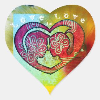 Liebe ist geformte Aufkleber der Liebe Herz für