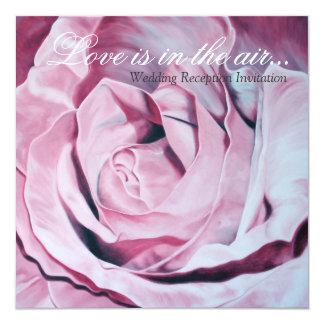 Liebe ist im Luft Hochzeits-Empfang einladen Quadratische 13,3 Cm Einladungskarte
