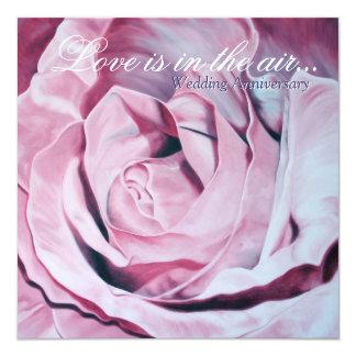 Liebe ist im Luft Hochzeits-Jahrestag einladen Quadratische 13,3 Cm Einladungskarte